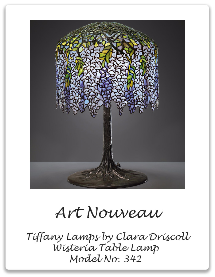 Art nouveau tiffany lamps wisteria table lamp xena barlow art nouveau tiffany lamps wisteria table lamp aloadofball Choice Image