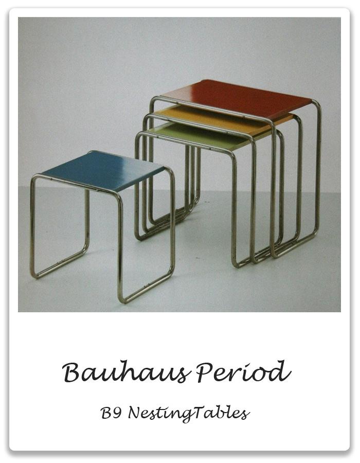 Bauhaus   Marcel Breuer B9 Tubular Nesting Tables
