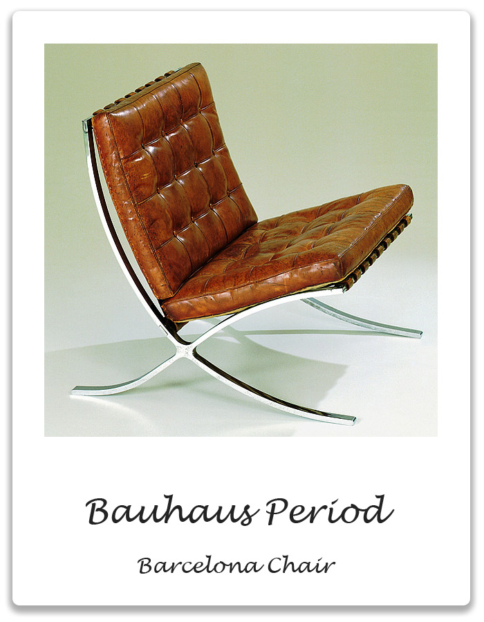 bauhaus period barcelona chair xena barlow. Black Bedroom Furniture Sets. Home Design Ideas