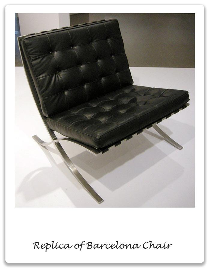 Bauhaus period barcelona chair xena barlow for Replica designer sessel