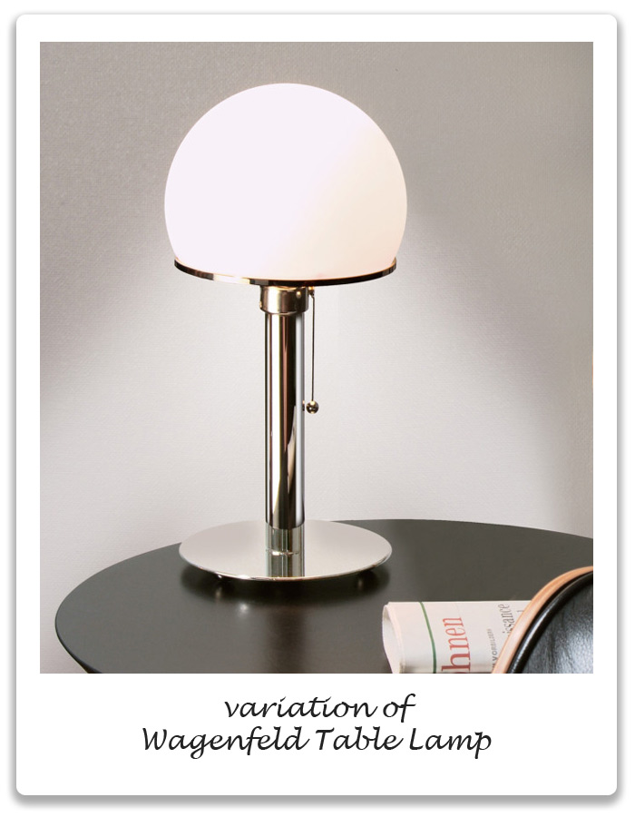 bauhaus period wagenfeld table lamp xena barlow. Black Bedroom Furniture Sets. Home Design Ideas