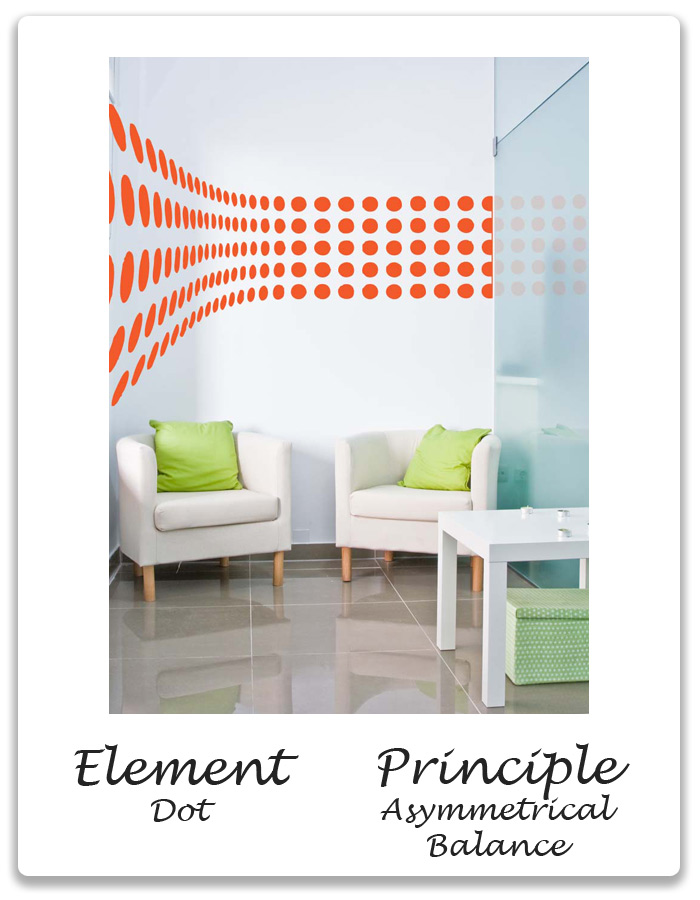 Elements Of Design Balance : Elements principles of design dot asymmetrical